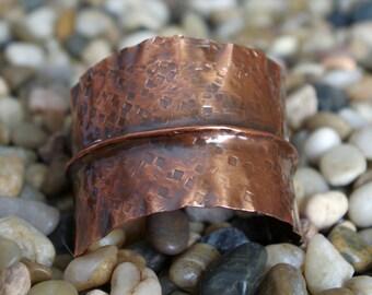 Copper Cuff Fold Formed Bracelet