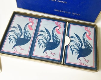 Samba Triple Deck Canasta Blackstone 3 decks rooster sealed decks with rules