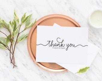 Personalized Wedding Thank You Cards   Newlywed Wedding Thank You   Bridal Shower   Wedding Cards   Pink Wedding - Elizabeth