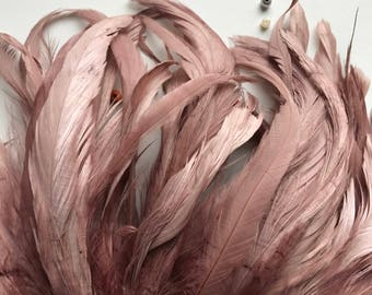 RUSTICA COQUE FEATHERS  / Antique Pale Mauve, Ashy Pink  / 1319