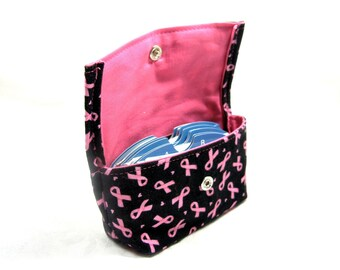 Business Card Holder, Gift Card Holder, Purse Accessory, Credit Card Holder, Grocery Card Holder, Ready to Ship, Breast Cancer Fundraiser