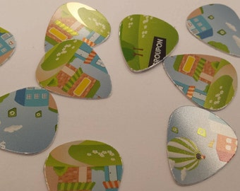 Set of 10 Upcycled guitar picks made from groupon gift card