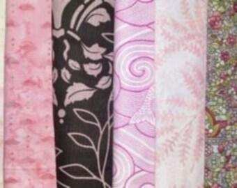 Pink Cotton Quilt Fabrics Grab Bag~10.66 yards Cotton