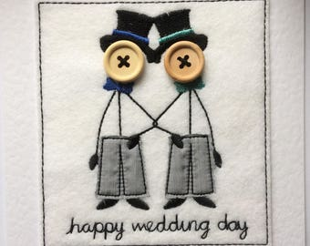 Wedding Card - Mr & Mr Embroidered