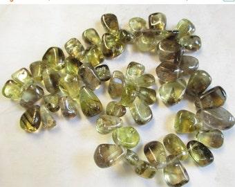 25% Off Sale Bi Color Natural Phantom Quartz Lemon Smokey Briolette Nugget Beads, 16 Inches 15mm 16mm 18mm Nugget Quartz Beads