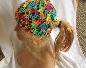 SALE - Blacklight Ponytail Hat