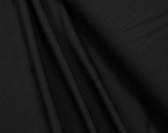 Cotton Jersey • uni • black • 0.54yd (0,5m) 002318