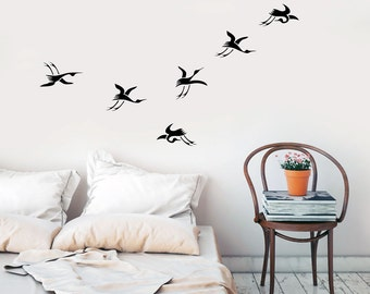Japanese Cranes - Wall decal