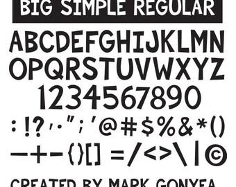 Big Simple Font