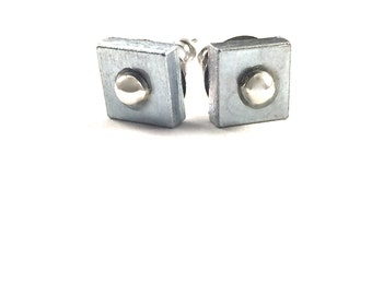 Stud Earrings Geometric Hardware Jewelry Industrial Eco Friendly Jewelry