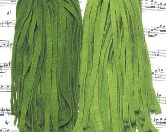 Rug Hooking Wool Strips Tuscan Green Gradations Number 6 Dorr Wool Hand Dyed New