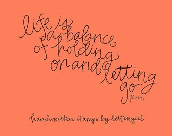 Balance Stamp: Handwritten Quotation for Card-Making and Crafting