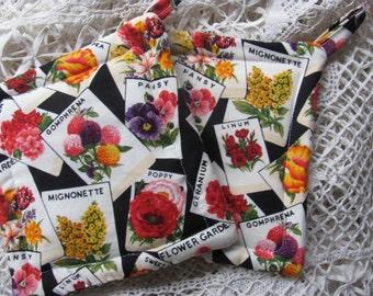 Garden Fabric Potholders/Trivets