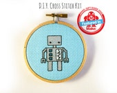 La Ru D.I.Y. Robot Cross Stitch Kit