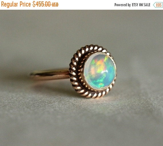 Proposal ring 14K Rose Gold Opal ring Opal Ring by Studio1980
