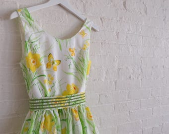 Spring Tea dress { meadow } size 4-6