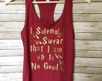 I Solemnly Swear that I am up to no Good Tank, Harry Potter Shirt, Funny Shirt, Harry Potter, Harry Potter Women, Harry Potter Gift, Weasley