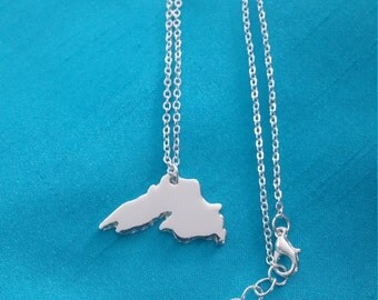 Handcrafted Silver Lake Superior with extender chain SAME DAY SHIP