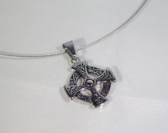 "Celtic Cross Necklace - UNISEX - 18"""