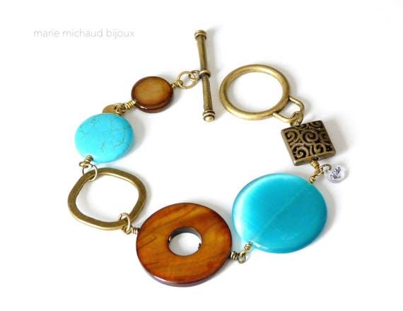 Big bracelet,Big boho bracelet,Boho bracelet,Hippie chic bracelet,Big bold bracelet,Original bracelet,Boho jewelry,Summer bracelet,
