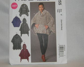 Uncut McCall's Pattern 7255 Easy Misses' Ponchos and Belt