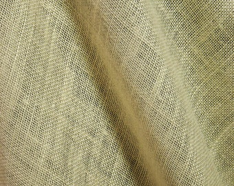 C358 Ivory or Beige Linen Blend Mesh or Canvas Type Fabric 56 in Wide By the Yard