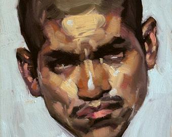 """Original Oil Painting - """"Asteroid"""" Portrait Art"""