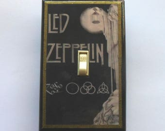 Led Zeppelin Switches & Outlets with MATCHING SCREWS- Led Zeppelin album Led Zeppelin poster Houses of the Holy Stairway to Heaven Zeppelin