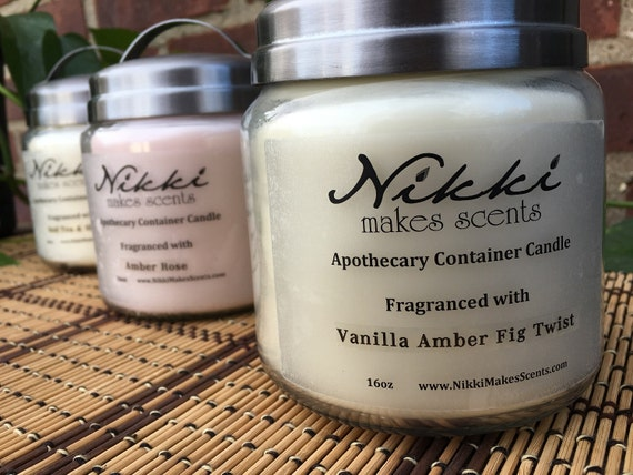 3 - 16oz Apothecary Soy Candles (SALE) your choice of scent