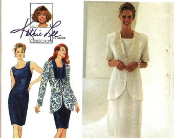 Misses / Miss Petite Classic Dress & Jacket, Size 12 -14 -16, Simplicity 9336 Sewing Pattern, UNCUT Knee or Mid Calf length, Dress Jacket
