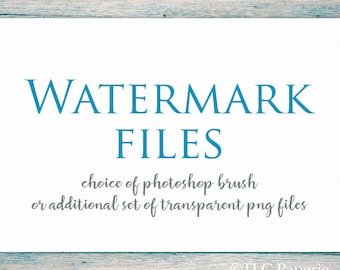 Watermark add on to go with your premade logo. Choice of Photoshop / Elements abr brush or set of transparent PNG files