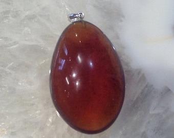50% Mega Sale Blue Amber Teardrop Pendant From Sumatra ( Natural Blue Amber) #1