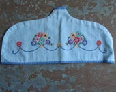 Cover It Up  Vintage Handmade  Hand Embroidered Coathanger Cover  1930s
