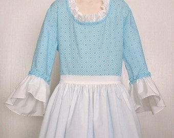 Girls Pioneer Prairie Colonial Market Day Costume  Size 10/12 Ready to Ship