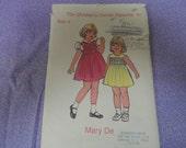 Children's Corner Patterns 67 Mary Dee Size 4 Smocked Jumper or Dress