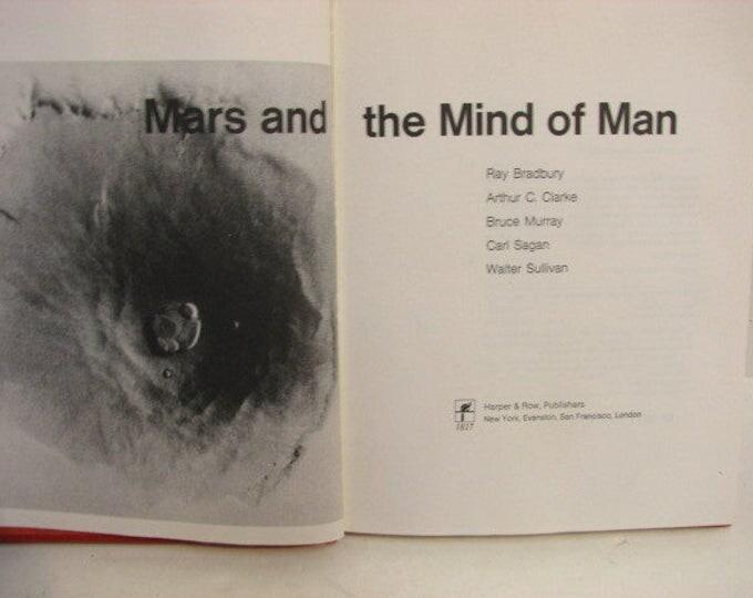 Vintage Mars and the Mind of Man Book, 1973 First Edition HB, Bradbury Clarke Sagan Murray Sullivan