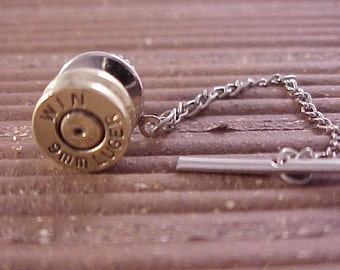 Bullet Tie Tack Winchester 9mm Luger Recycled Repurposed
