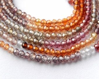 Tunduru Sapphire Gemstone. Precious Gemstone Bead.  Faceted Tunduru Sapphire  Rondelles. 2.3mm. Strand Your Choice.  (bsapt)