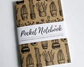 Cacti & Succulents | Handmade A6 Pocket Notebook