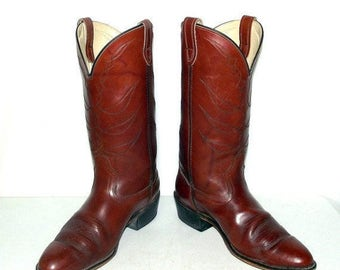 Vintage Authentic Cowboy Boots with real by honeyblossomstudio
