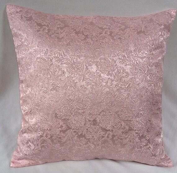 Decorative Pillows Rose Gold : Items similar to Rose gold decorative pillow. Brocade throw pillow cover.Rose gold decor. Pink ...
