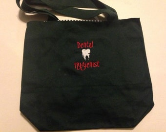 Dental Hygienist Tote Bag for  your special Hygienist can be personalized great gift
