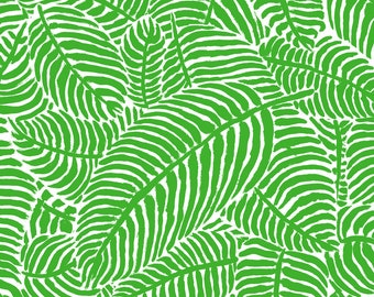 Palm Fronds Fabric - Pure Palm By Theprimefloridian - Palm Fronds Tropical Summer Greenery Leaves Cotton Fabric By The Yard With Spoonflower