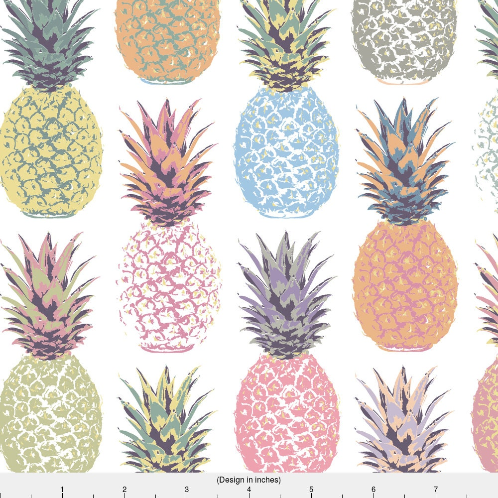 Pineapple Fabric Pineapple Summer By Mariafaithgarcia