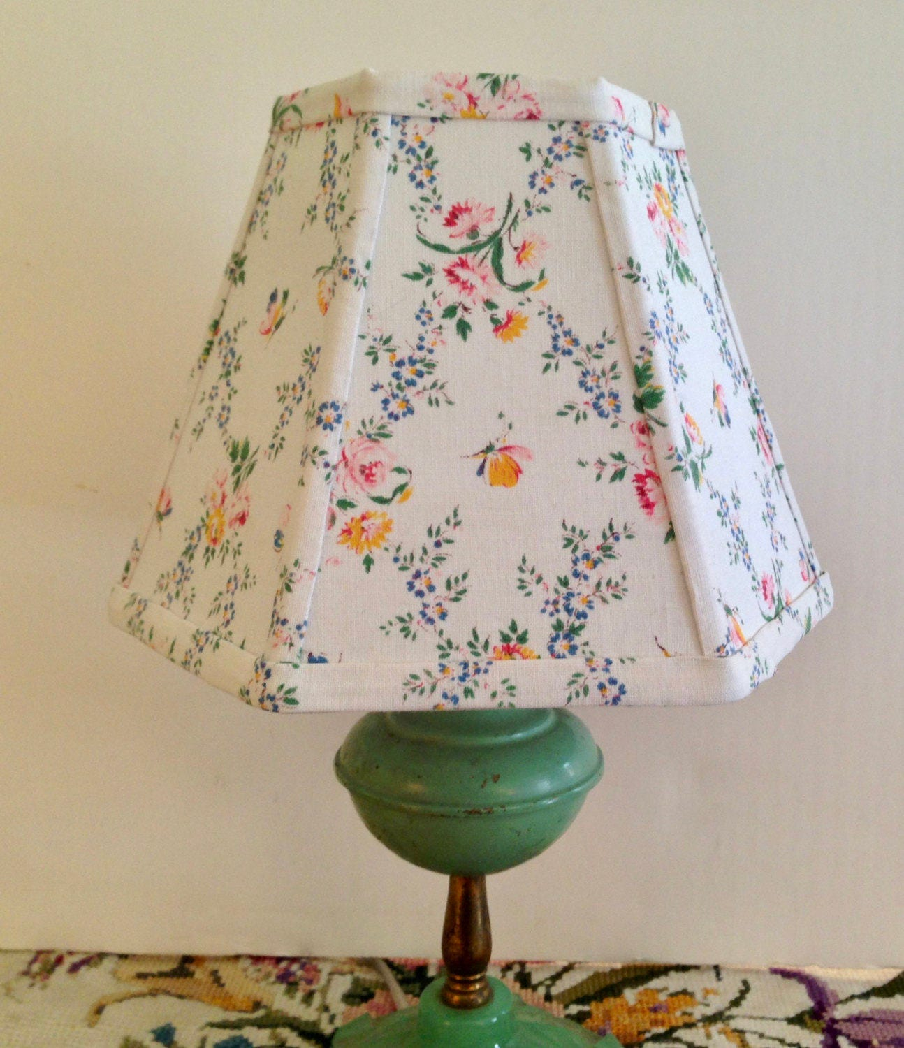 Cleveland Vintage Lighting Clip On Lampshade: French Floral Lamp Shade Small Clip Lampshade Pretty Vintage