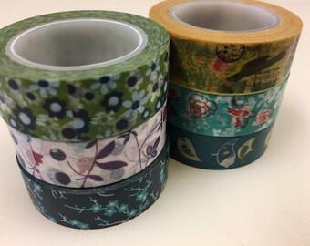 Washi Tape Flowers Leaves Birds 6 Rolls Scrapbook Tape Masking Tape DIY