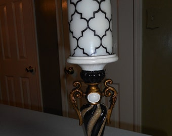 Custom painted candle holder