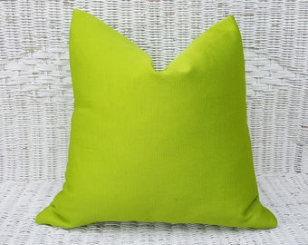 Solid Chartreuse Pillow Cover, Vibrant Yellow Green Pillow, Bright Green Toss Pillow, Iridescent Green Accent Pillows, 12x18 Lumbar, 18x18