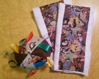 Where the Wild Things Are print SET (2) Burp Cloths & Soft Ball