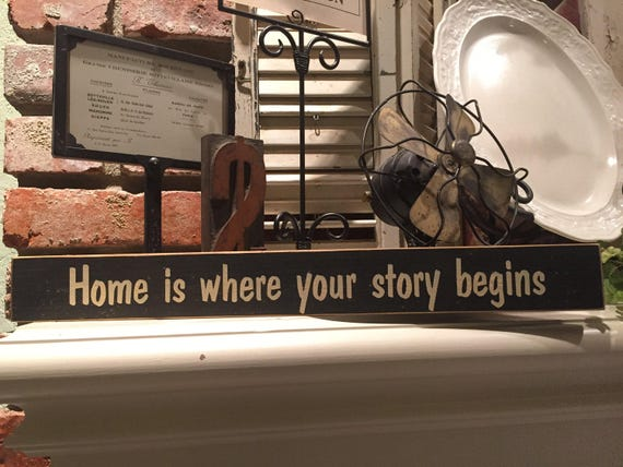 Home is where your story begins family home sign stocking